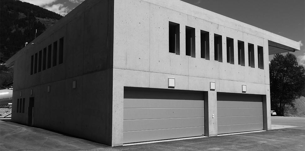 Neubau Dispo-Gebäude Salavras, Rueun
